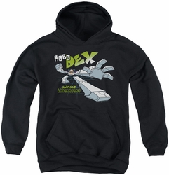 Dexter's Laboratory youth teen hoodie Robo Dex black