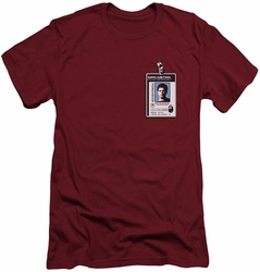 Dexter slim-fit t-shirt Badge mens cardinal