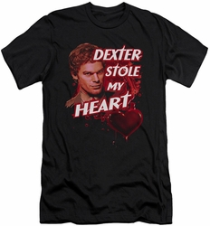 Dexter slim-fit t-shirt Bloody Heart mens black