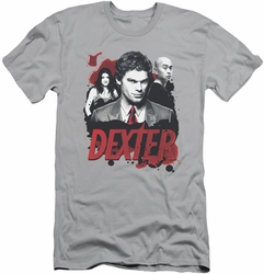 Dexter slim-fit t-shirt Bloody Trio mens silver