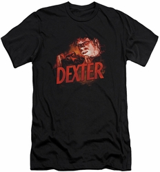 Dexter slim-fit t-shirt Drawing mens black