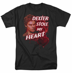 Dexter t-shirt Bloody Heart mens black
