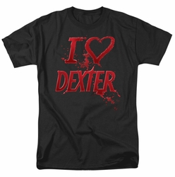 Dexter t-shirt I Heart Dexter mens black