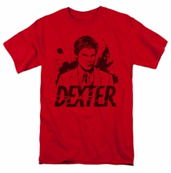 Dexter t-shirt Splatter Dex mens red