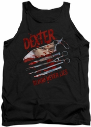 Dexter tank top Blood Never Lies mens black
