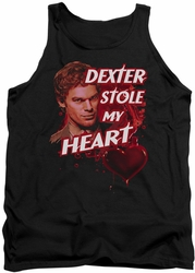 Dexter tank top Bloody Heart mens black