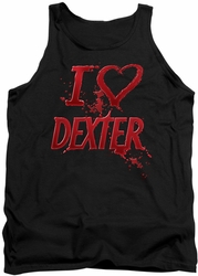 Dexter tank top I Heart Dexter mens black