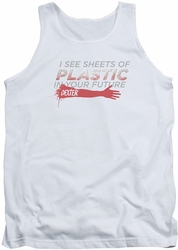 Dexter tank top Plastic Prediction mens white