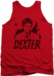 Dexter tank top Splatter Dex mens red