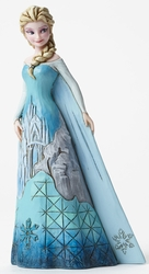 Disney Traditions Frozen Elsa With Castle Dress Figurine