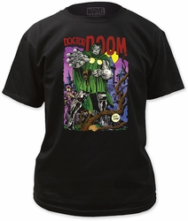 Doctor Doom adult mens tee black