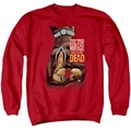Doctor Mirage adult crewneck sweatshirt Talks To The Dead red
