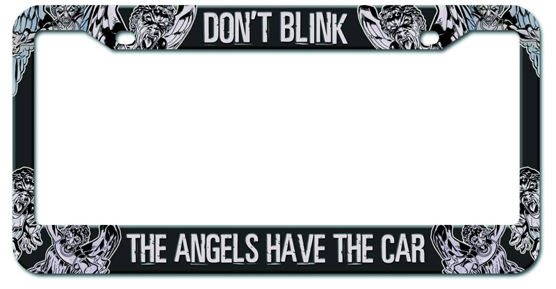 Doctor Who Angels Have The Car License Plate Frame Urban Collector