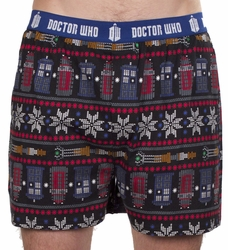 Doctor Who boxers Fair Isle mens multi pre-order