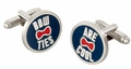 Doctor Who Chrome Bow Ties Cuff Links in Gift Box