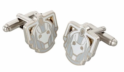 Doctor Who Chrome Cyberman Cuff Links in Gift Box