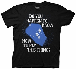 Doctor Who Fly this thing Tardis mens t-shirt pre-order