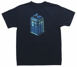 Doctor Who Green & Blue Art Tardis mens t-shirt