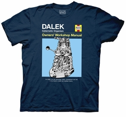 Doctor Who Haynes Owner Manual Dalek mens t-shirt pre-order
