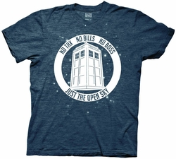 Doctor Who No Boss No Bills Navy Heather mens t-shirt