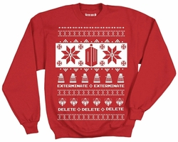 Doctor Who Villains Christmas mens Crew Fleece