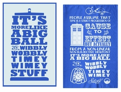 Doctor Who Wibbly Wobbly Timey Wimey Tea Towels