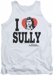Dr.Quinn tank top I Heart Sully mens white