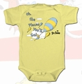 Dr Seuss Oh The Places You'll Go infant snap suit pre-order