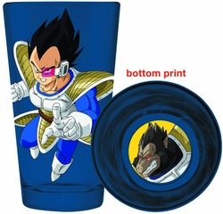 Dragonball Z Vegeta Bottom Print Pint Glass