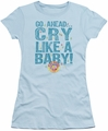Dubble Bubble juniors t-shirt Cry Like A Baby light blue