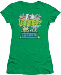 Dubble Bubble juniors t-shirt Pink Lemonade kelly green