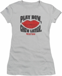 Dubble Bubble juniors t-shirt Play Chew silver