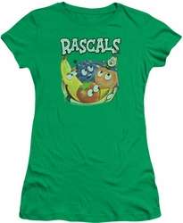 Dubble Bubble juniors t-shirt Rascals kelly green