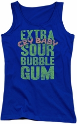 Dubble Bubble juniors tank top Extra Sour royal