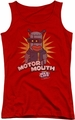 Dubble Bubble juniors tank top Motor Mouth red