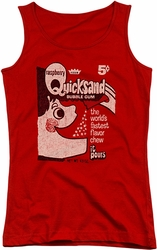 Dubble Bubble juniors tank top Quicksand red