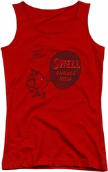 Dubble Bubble juniors tank top Swell Gum red