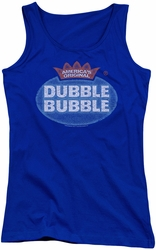 Dubble Bubble juniors tank top Vintage Logo royal