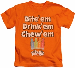 Dubble Bubble kids t-shirt Bite Drink Chew orange