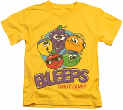 Dubble Bubble kids t-shirt Bleeps yellow