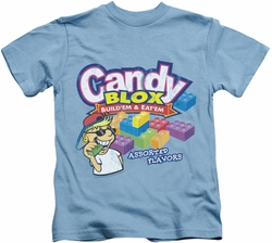 Dubble Bubble kids t-shirt Candy Blox carolina blue