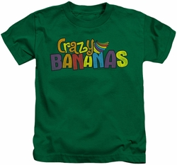 Dubble Bubble kids t-shirt Crazy Bananas kelly green