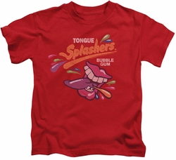 Dubble Bubble kids t-shirt Distress Logo red
