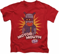 Dubble Bubble kids t-shirt Motor Mouth red