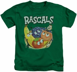 Dubble Bubble kids t-shirt Rascals kelly green