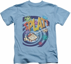 Dubble Bubble kids t-shirt Splat Jawbreakers carolina blue