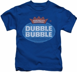 Dubble Bubble kids t-shirt Vintage Logo royal blue
