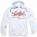 Razzles pull-over hoodie A Gum And A Candy adult white