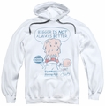Dubble Bubble pull-over hoodie Bigger adult white