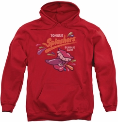Dubble Bubble pull-over hoodie Distress Logo adult red